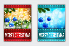 Flyer Templates with Holiday Backgrounds. Stock Images