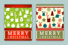 Flyer Templates with Holiday Backgrounds. Stock Photography