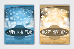 Flyer Templates with Holiday Backgrounds. Royalty Free Stock Images