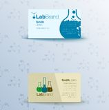 Flyer with test tubes and formulas Stock Photo