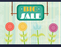 Flyer with text Big Sale, retro design Stock Image