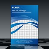 Flyer vector template Royalty Free Stock Image