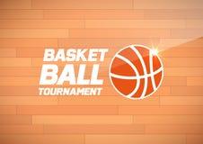 Flyer or web banner design with basketball ball icon Stock Photos
