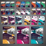 27 Set of Business Brochure Flyer Design Layout Template - Vector Eps10. royalty free stock photo