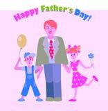 Flyerdesign heureux de jour de pères Photo libre de droits