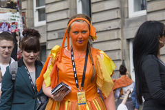 Flyering At Edinburgh Festival Fringe Royalty Free Stock Image