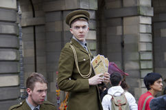 Flyering at the Edinburgh Festival Fringe Royalty Free Stock Photos