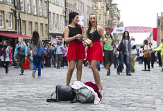 Flyering on the Royal Mile Stock Photography