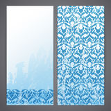 Flyers with arabesque decor Royalty Free Stock Images