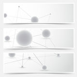 Flyers banners templates - molecule pattern Royalty Free Stock Photo