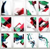 Flyers, Brochure Design Template Set Stock Images