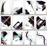 Flyers, Brochure Design Template Set Stock Photography
