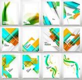 Flyers, Brochure Design Template Set Royalty Free Stock Photos