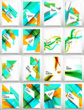 Flyers, Brochure Design Template Set Royalty Free Stock Images
