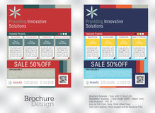 Flyers for business in a creative two different colors Stock Images
