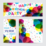 Flyers with circles Royalty Free Stock Images