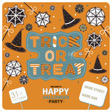 Flyers design for happy halloween party Royalty Free Stock Photo