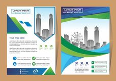 Vector Business brochure, flyers design template, company profile, magazine, poster, annual report, book & booklet cover, with gre stock illustration