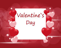 Flyers or invitation card for the holiday Valentine`s Day. Hearts on a gradient background. illustration Stock Images