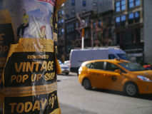 Flyers In New York Stock Photo