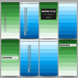 Flyers set. Abstract colorful business background, blue and green colors, modern stylish striped vector texture for your. Set of modern vector flyers. Abstract Stock Photography