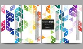 Flyers set. Abstract colorful business background, modern stylish hexagonal and triangle vector texture Stock Photography