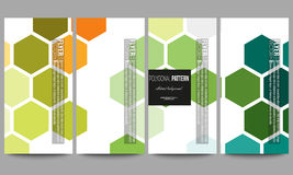 Flyers set. Abstract colorful business background, modern stylish hexagonal vector texture Stock Photos