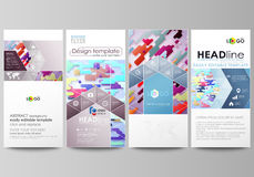 Flyers set, modern banners. Business templates. Cover design template, abstract vector layouts. Bright color lines  Royalty Free Stock Photo