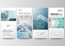 Flyers set, modern banners. Business templates.. Cover design template, easy editable, abstract flat layouts. Abstract blue or gray business pattern with lines Stock Image