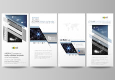 Flyers set, modern banners. Business templates. Cover design template, easy editable abstract vector layouts. Sacred Royalty Free Stock Image