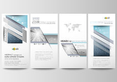 Flyers set, modern banners. Business templates. Cover design template, easy editable, flat layouts. Abstract blue. Flyers set, modern banners. Business Royalty Free Stock Photo