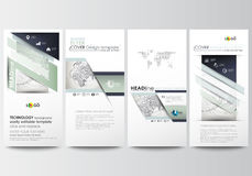 Flyers set, modern banners. Business templates. Cover design template, easy editable, flat layouts. Dotted world globe Stock Photo