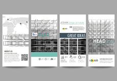 Flyers set, modern banners. Business templates. Cover design template, easy editable vector layouts. Abstract infinity Royalty Free Stock Photography