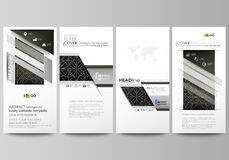 Flyers set, modern banners. Business templates. Cover design template, easy editable vector layouts. Celtic pattern Royalty Free Stock Photography