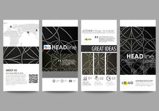 Flyers set, modern banners. Business templates. Cover design template, easy editable vector layouts. Celtic pattern Stock Images