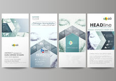Flyers set, modern banners. Business templates. Cover design template, vector layouts. Halftone dotted background, retro Royalty Free Stock Photo