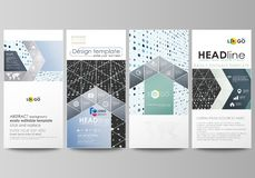 Flyers set, modern banners. Business templates. Cover template, easy editable abstract layouts. Soft color dots with. Flyers set, modern banners. Business stock illustration