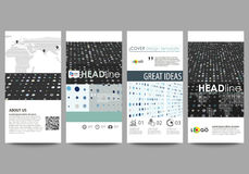 Flyers set, modern banners. Business templates. Cover template, easy editable abstract layouts. Soft color dots with. Illusion of depth and perspective, dotted Stock Images
