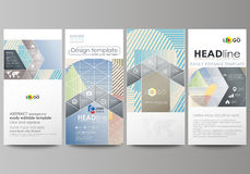 Flyers set, modern banners. Business templates. Cover template, easy editable abstract vector layouts. Minimalistic Stock Photos