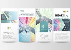 Flyers set, modern banners. Business templates. Cover template, easy editable flat style layouts, vector illustration Stock Photography