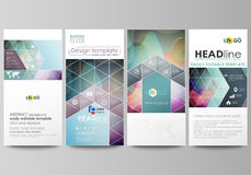 Flyers set, modern banners. Business templates. Cover template, flat style layouts, vector illustration. Bright color Royalty Free Stock Images