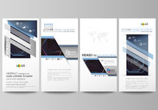 Flyers set, modern banners. Business templates. Cover template, vector layouts. Abstract polygonal background with Royalty Free Stock Photos