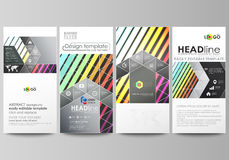 Flyers set, modern banners. Business templates. Cover template, vector layouts. Bright color rectangles, colorful design Royalty Free Stock Photos