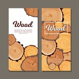Flyers with spilled wood royalty free illustration