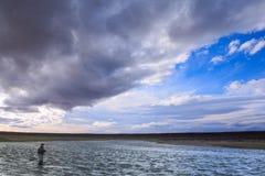 Flyfishing в Патагонии Стоковые Фото