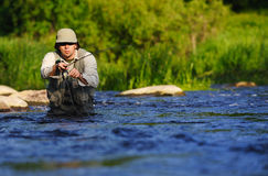 Flyfishing Photographie stock