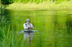 Flyfishing Photo stock
