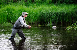 Flyfishing Imagem de Stock Royalty Free