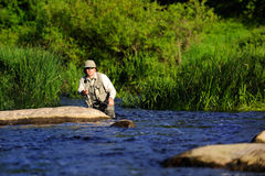 Flyfishing Royalty Free Stock Images