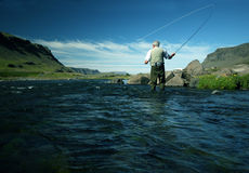 Flyfishing Stockbild